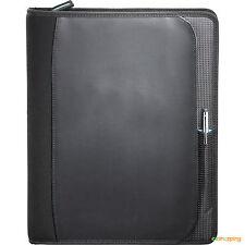 Black Planner Zoom® Business Office Organize 2-in-1 Tech Sleeve Zip Padfolio