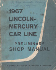 1967 Lincoln Mercury Preliminare Shop Manual Originale Cougar Continental Comet