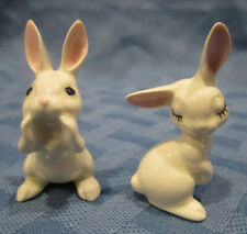 Hagen Renaker Miniature Bunny Rabbit, Papa and Mama, #0197 & #0198, Made in Usa