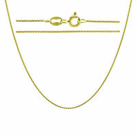 Gold Plated .925 Sterling Silver Round Box Chain Necklace In 14 - 30 Inches