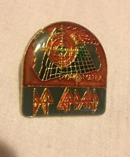 Vintage Def Leppard metal pin collectible old rock band music memorabilia