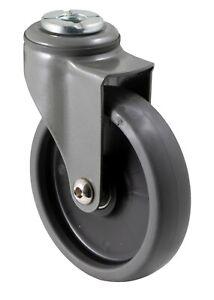 FALLSHAW 100mm Non-Marking Rubber Swivel Caster Wheels for furniture & trolleys