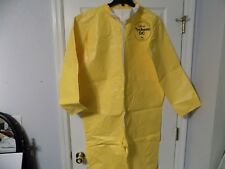 (1) Dupont Tychem QC Protection Coverall New Yellow Safety Suit Chemical Sz MED