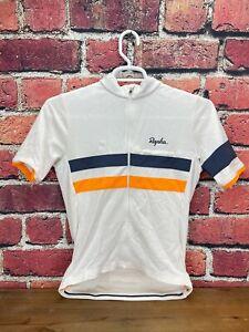 Rapha Brevet Jersey II Medium Men's Short Sleeve White Cycling Jersey