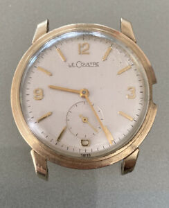Vintage LeCOULTRE 10K GOLD FILLED 480/ CW ROUND Wrist Watch