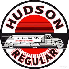 VINTAGE HUDSON GASOLINE PETROL DECAL STICKER LABEL 9 INCH DIA 230 MM HOT ROD xx