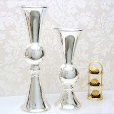 38.5CM Large Stunning Luxury Silver Flower Vase Urn Wedding Table Centrepiece UK