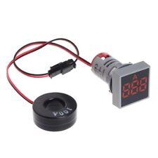 Mini Amperometro Digitale 22mm AC 20-500V misura corrente 100A da pannello ROSSO