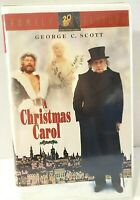 A Christmas Carol VHS 1995 Clamshell With George c. Scott TESTED
