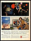 1961 RCA Color TV Vintage PRINT AD Victor Television Set Appliance Watching Show photo