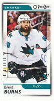 2017-18 O-Pee-Chee Hockey Mini #M-55 Brent Burns SP San Jose Sharks