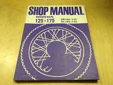 Werkstatthandbuch CB 125 ,CB 175 ,CL 125 ,CL 175 (1974)