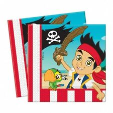 "20 Jake And The Never Land Pirates Birthday Party Disposable 6.5"" Paper Napkins"
