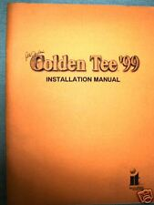 Original Golden Tee 1999 Game Manual/Book