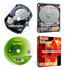 HARD Disc Drive formato dati elimina pulire Cancella distruggere + Data Recovery CD