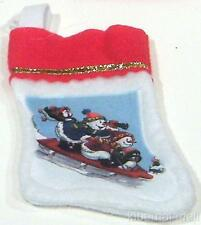 """New-Mini Christmas Stocking~Snowman Money/Gift Card Holder Snowmen Sledding 5"""""""