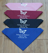 150 Personalised Luxury napkins 40x40cm 3ply  3 Lines of text + 1 of 24 designs