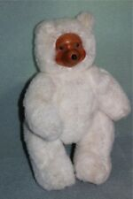 "Applause Robert Raikes 11"" White Teddy Bear 17010 TERRY (Wooden Face) 1988"