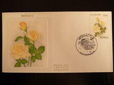 MONACO PREMIER JOUR FDC YVERT 1714     ROSE CAROLINE      5F   MONACO  1990