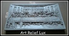 Relief Das letzte Abendmahl von Leonardo da Vinci Gips Skulptur Wandrelief