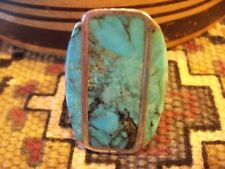 Sterling Silver Ring Massive Bisbee Turquoise and