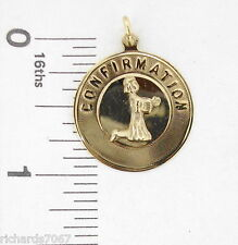 Charm M & M Sterling Silver Gold Plate CONFIRMATION girl praying