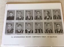 CARTOLINA FORMATO MANIFESTO SQUADRA INTERNAZIONALE INTER F.C. CAMPIONATO 1946/47