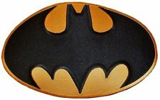 """Batman Large Bat Logo 9 1/2"""" Wide Embroidered Iron on Patch"""