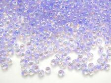10g lilac-lined crystal AB Miyuki magatama drop beads - 4 x 5mm- 1.5mm hole 2145
