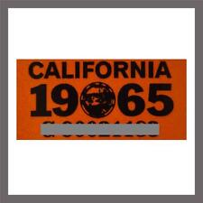1965 California YOM DMV Car Truck Trailer License Plate Sticker / Tag CA 1963/65