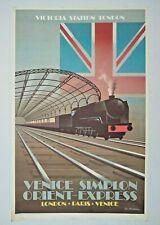Vintage Victoria Station London Poster - Venice Simplon Orient Express, 1981