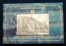 1991 Italy 500£ silver coin  Ponte MILVIO UNC/BU in official folder