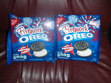FIREWORK OREO LIMITED EDITION WITH POPPING CANDY COOKIES LOT OF 2 PKGS