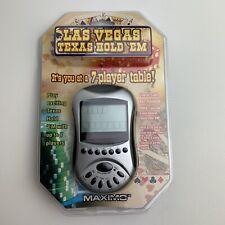 Las Vegas Texas Hold Em Maximo Handheld Electronic Video Poker Game 7 Player New