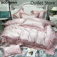 Luxury 100S Egyptian Cotton Royal Bedding Set  Duvet Cover Embroidery Bed Sheet