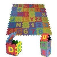 36pcs LARGE Alphabet Numbers EVA Floor play Mat Baby Room Jigsaw ABC foam Puzzle