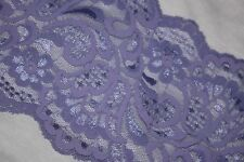 """1 yard lavender purple galloon scalloped sheer STRETCH trim lace 5"""" wide"""