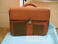 275984cf45e6 Piquadro Tan Frame Organized computer bag