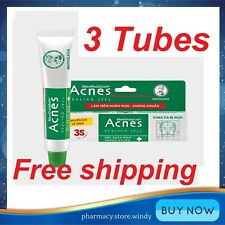 3 Tubes Acnes Medicated Sealing Jell Anti-Acne Spot Treatment Gel 18g - NEW