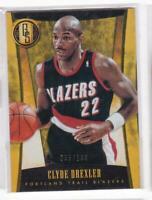 2013-14 Clyde Drexler #/199 Panini Gold Standard Blazers