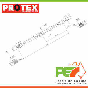 New *PROTEX* Hydraulic Hose - Front For SUZUKI SWIFT SA310 2D H/B FWD.
