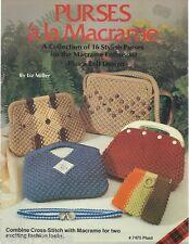 Purses ala Macrame Liz Miller Vintage Patterns Instruction Book NEW 1981