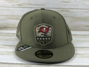 TAMPA BAY BUCCANEERS NEW ERA FITTED SALUTE TO SERVICE HAT SIZE 7 1/4