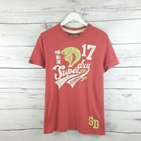 Superdry Mens Limited Edition Red Cobras Tshirt Size Medium M