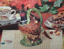 Spode PHEASANT TEAPOT Harvest Collection NEW in Box! 24 oz.  Figural Autumn