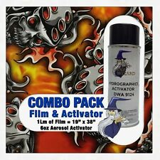 Hydrographic Film Activator Red Flaming Dice Skulls Hydro Dip Dipping Wizard