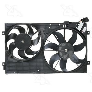 For VW Jetta Beetle Dual Radiator and Condenser Fan Assembly Four Seasons 76305