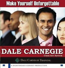 MAKE YOURSELF UNFORGETTABLE AUDIOBOOK 6 CD SET NEW SEALED DALE CARNEGIE TRAINING