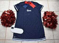PATRIOTS CHEERLEADER COSTUME OUTFIT POM POMS JERSEY DRESS WOMANS 16-18 CHEER SET