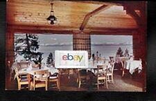 CAL-NEVA LODGE NORTH SHORE LAKE TAHOE DINING ROOM TAHOE VIEW 1950'S POSTCARD